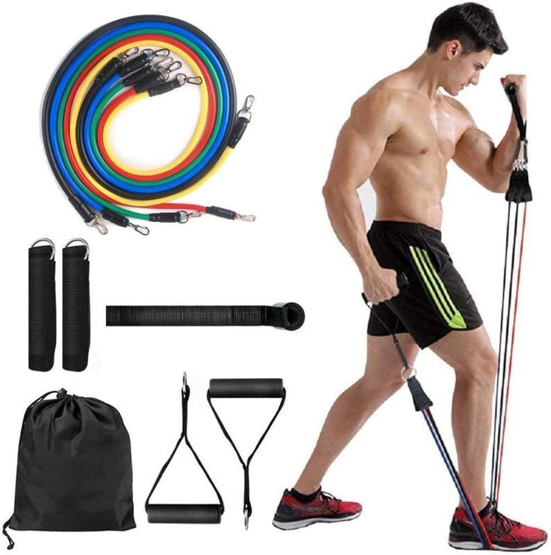 11PCS / Set Pilates tubazione del latice espansori Esercizio Tubi Forza Pratica della fascia di resistenza di impostare attrezzature per il fitness