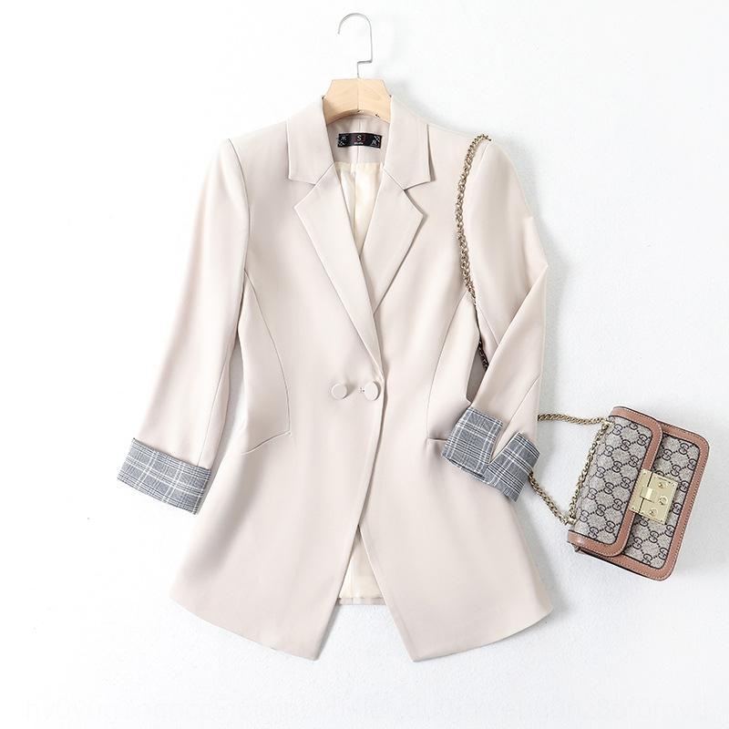 Tyyt8 Женские высокой моды элегантные пальто 2020 осень Новый корейский стиль случайные все-матч простых женщин Top костюм пальто костюм верх