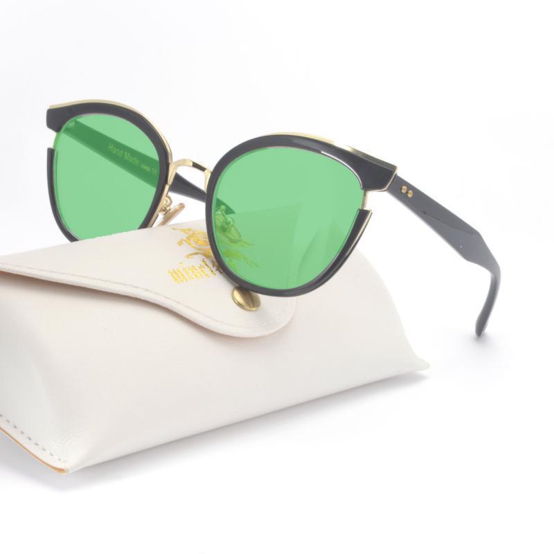 Gato de la manera gafas de sol de las mujeres de lujo gafas de moda de época diseñador de la marca Mujer atractiva Mujer Gafas de sol UV400 FML
