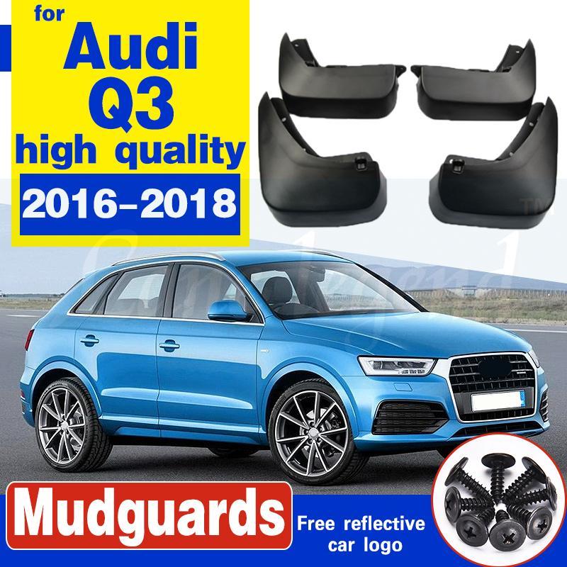 Auto-Schmutzfänger für Audi Q3 2016 ~ 2018 Fender Mud Schutzklappe Splash Klappen Kotflügel Spritzschutz Weicher Kunststoff-Zubehör