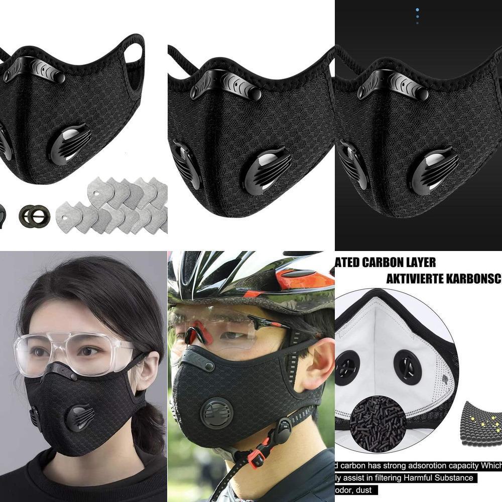 PM2.5 Moda attivato sciarpa 10pcs unisex in cotone Outdoor faccia del filtro Maskswashable e riutilizzabile PVS7