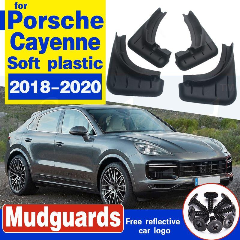 Porsche Cayenne garde-boue pour PO536 2018 ~ 2020 Fender Bavette boue Garde Rabats roue avant Splash arrière de voiture Accessoires