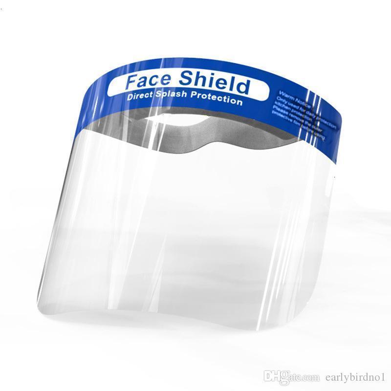 Schild Anti-Fog-Us-Schablone Stock Gesicht Isolation Vollschutzmasken mit Elastic Band Sponge Stirnband HD-Transparent Tierschutz Fy8017