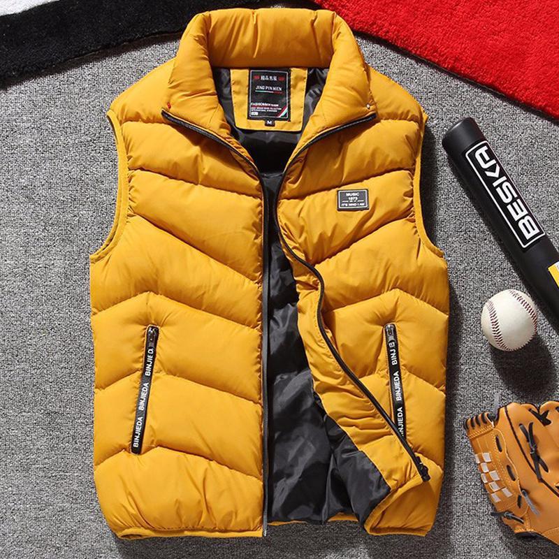 Più di formato maglia degli uomini del rivestimento del Mens di marca senza maniche Giubbotti Giacche uomini Casual Vest Uomo Cotone addensare Gilet 8XL CX200810 cappotti da uomo