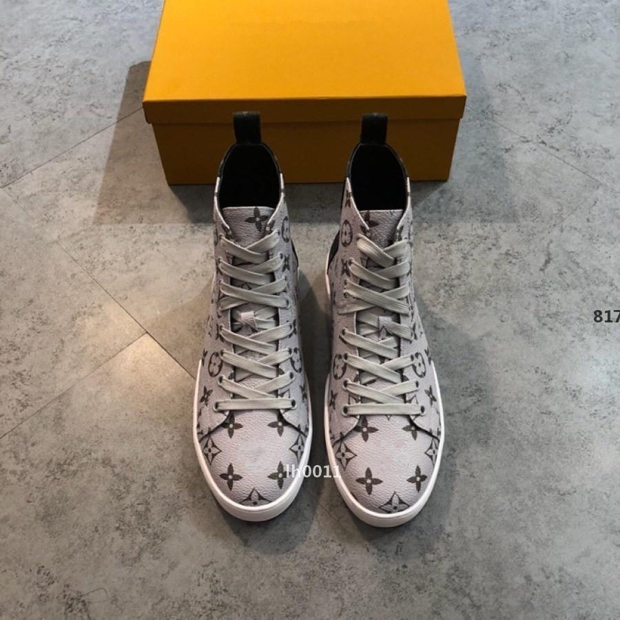 grife de luxo 526 homens Couro Calçados Casual Luxury Shoes Lace-Up Mens Casual com caixa original Zapatos de hombre Fast Ship Tamanho 38-45