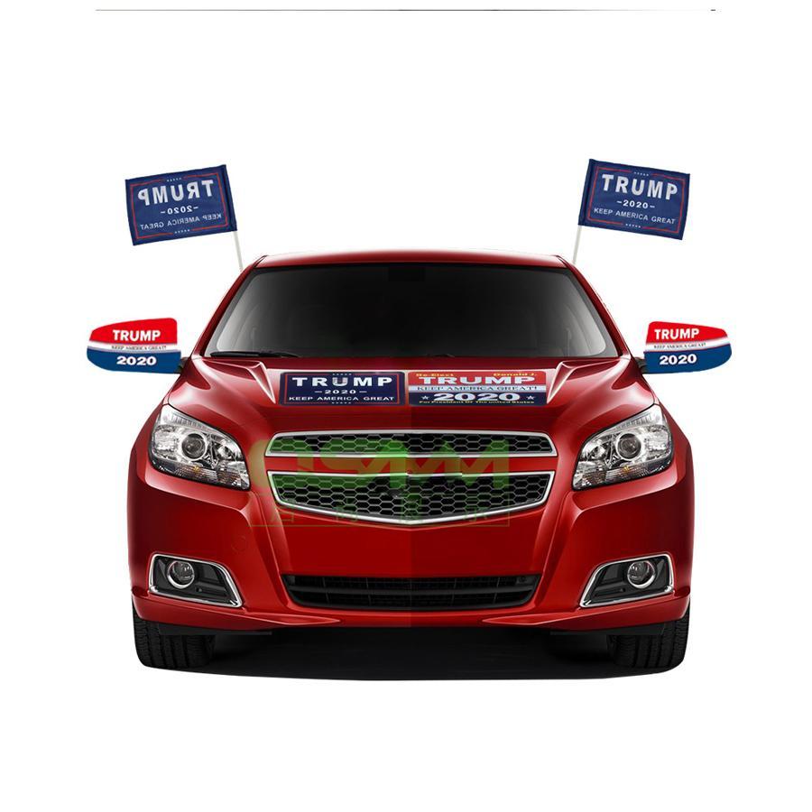 New Trump Car Adesivos Reflexivos Faça América Grande Novamente 2020 Trump adesivos American President Donald Trump Car Banner Adesivo