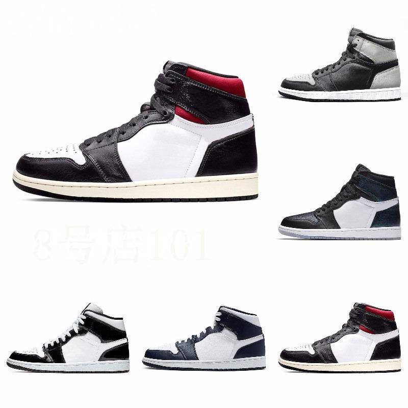 New'in 1s Yüksek Top 3 Shattered OG Bred Burun Yasaklı Oyun Kraliyet Ayakkabı Erkek 1s Gölge Sneakers Yüksek Kalite ile Kutusu J # 08-180