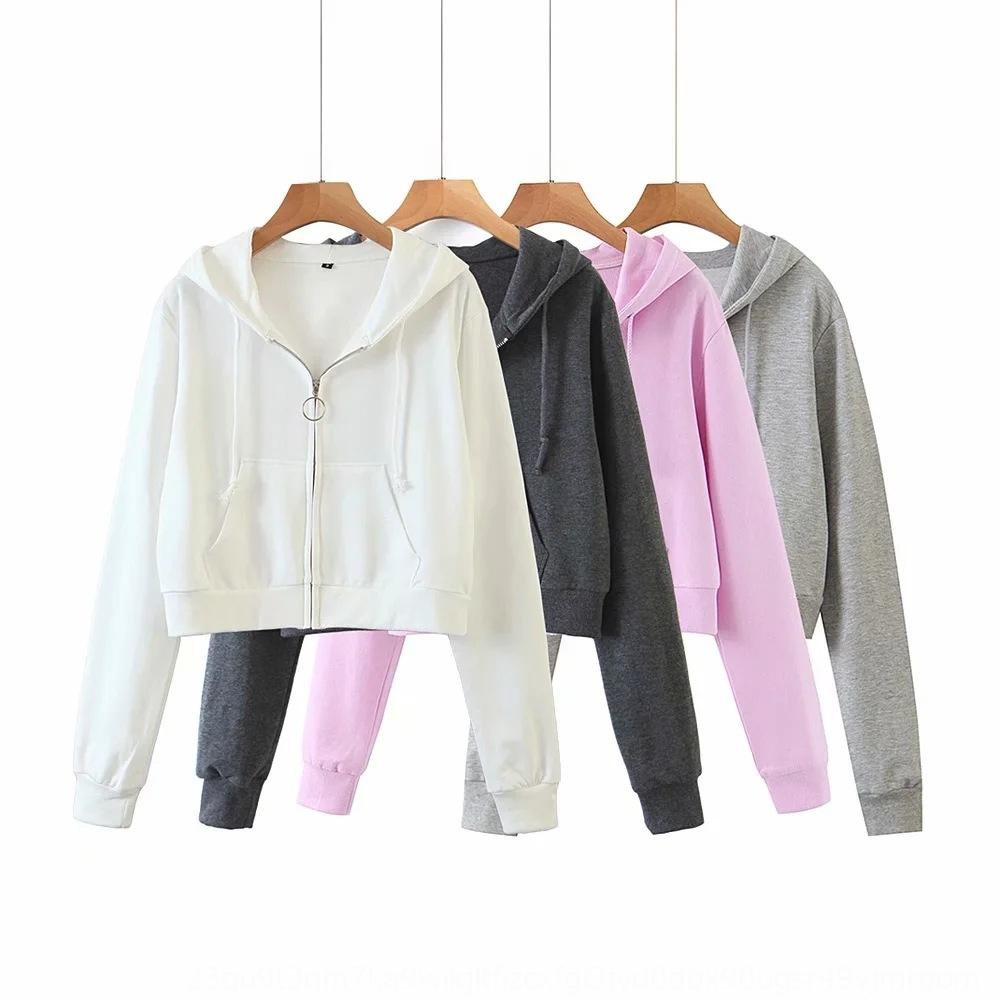 de nRsN1 Q0183-Wind Mulheres Spring roupas 2020 e Outono camisola anel Brasão New zipper zipper camisola com capuz casaco para mulheres
