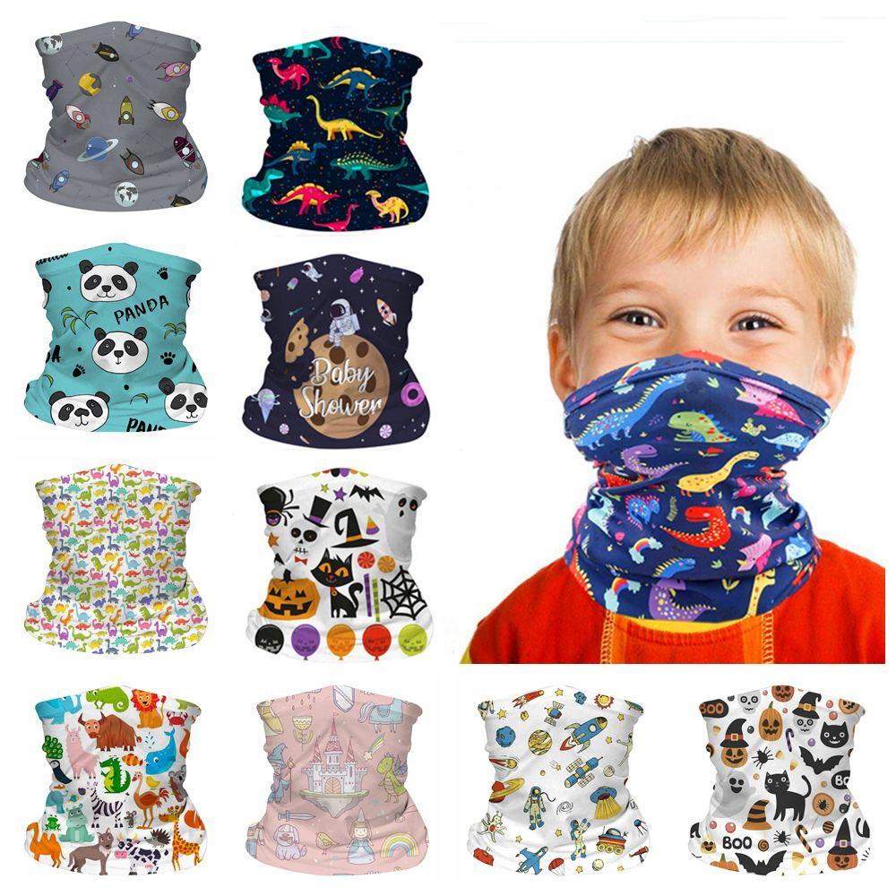 Kinder Gesicht nahtlose Maske Sun UV-Schutz Cartoon Hals Gamasche Schal Winddichtes Sonnenschutz Kind Breath Bandana für Outdoor Radsport FFA4375