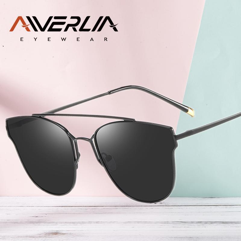 AIVERLIA Moda óculos de sol do olho de gato designer óculos polarizados para as Mulheres Cat Shades Eye Womens Sunglass UV400