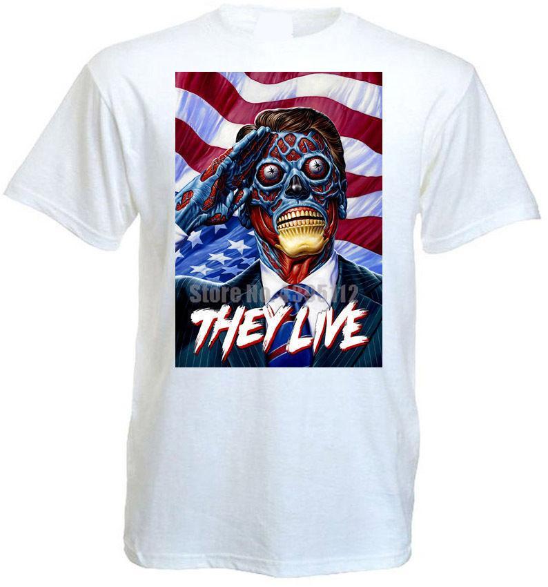 They Live Movie Poster Chemises homme Ahegao bande T-shirt Urss shirt snus T-shirts Un cadeau pour Guy Zgcqyh