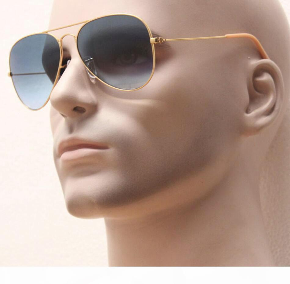 Free faster shipping iconic classical style large metal frame glass gradient lens women shopping sunglasses,man retro coating cool gafas
