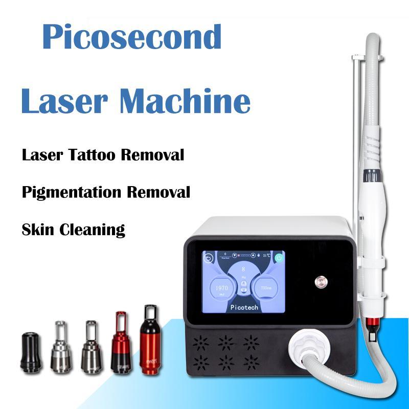 nuovo arrivo! mini laser macchine di rimozione del tatuaggio professionale pico picosecondo laser / laser per uso clinica 5 sonde