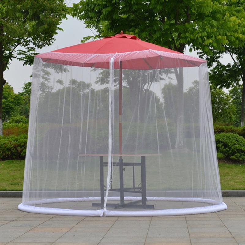 Outdoor Tabela Umbrella erros Gabinete Tela mosquitos Pátio Cobertura Liquida pára-redes anti-mosquito