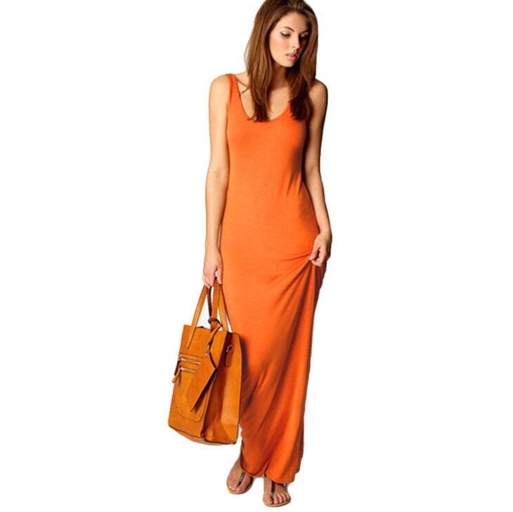 11 Colors Summer Designer Dress Womens Elegant Sexy New Fashion Club Vest Tank Party Dresses Hot Sale Long Maxi Dress Size S-3XL