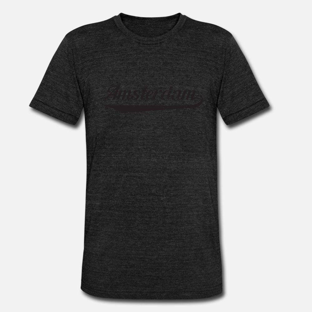Амстердам тенниски мужчин Дизайн 100% хлопок O шея Basic Solid Anti-Wrinkle мода Весна Стандартная рубашка