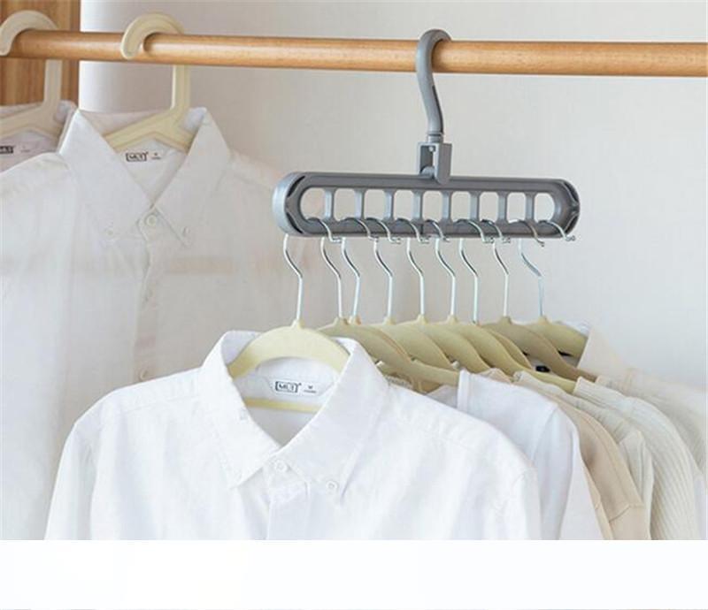 Home Storage Organizzazione Appendiabiti Stendino vestiti di plastica della sciarpa Appendini bagagli rack Armadio di stoccaggio Hanger