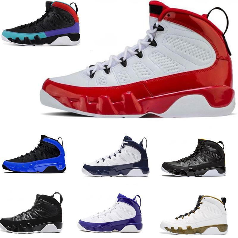 Nueva 9s azul barato reflectante Gimnasio Rojo Bred Zapatos UNC baloncesto para hombre de piel de serpiente de carbón Oreo Espíritu baloncesto de los zapatos