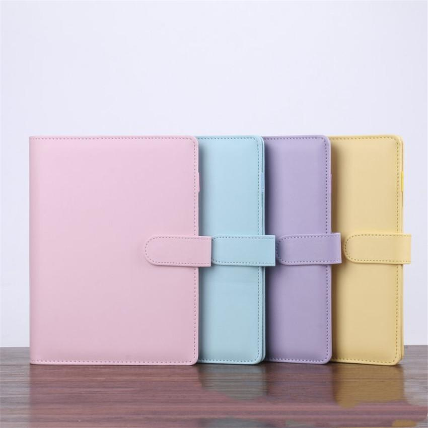 A6 NoteBook Cover Multicolor Book Sleeves Diary Covers Macaron Style Leather Cover Wholesale School Office Supplies A02