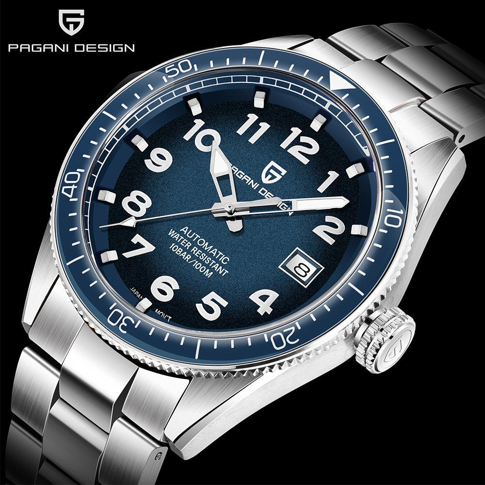 PAGANI design 2020 uomini orologi di lusso Affari Sport Orologio meccanico automatico di marca in acciaio inox impermeabile della vigilanza degli uomini T200812