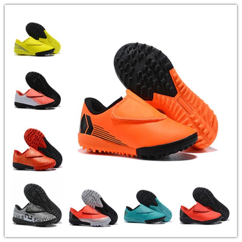 Les enfants de qualité supérieure Mercurial Superfly Chaussures de soccer filles tout-petits de garçons Chaussures de football Bottes Crampons