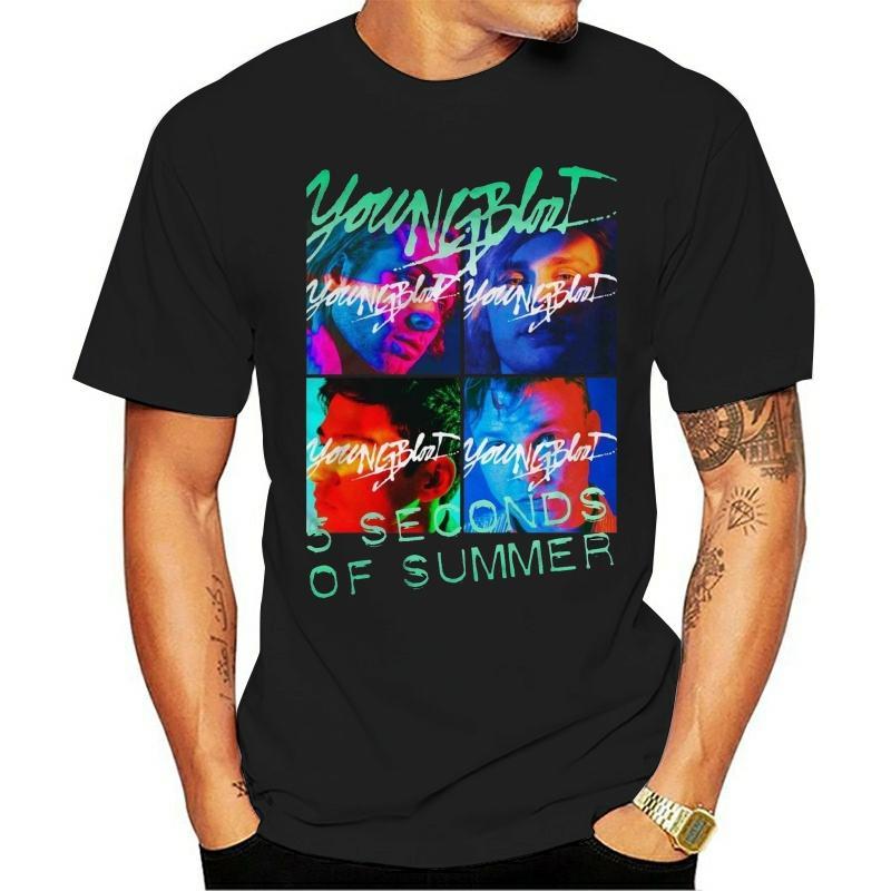 Youngblood 5 Second Of Summer Mans T-shirt d'été T-shirt de marque Fitness Musculation
