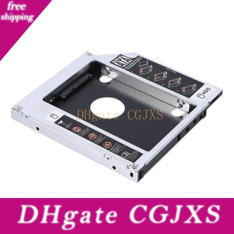 12 .7mm Aluminum Sata Hdd Ssd Enclosure Hard Disk Drive Bay Caddy Optical Dvd Adapter For Laptop