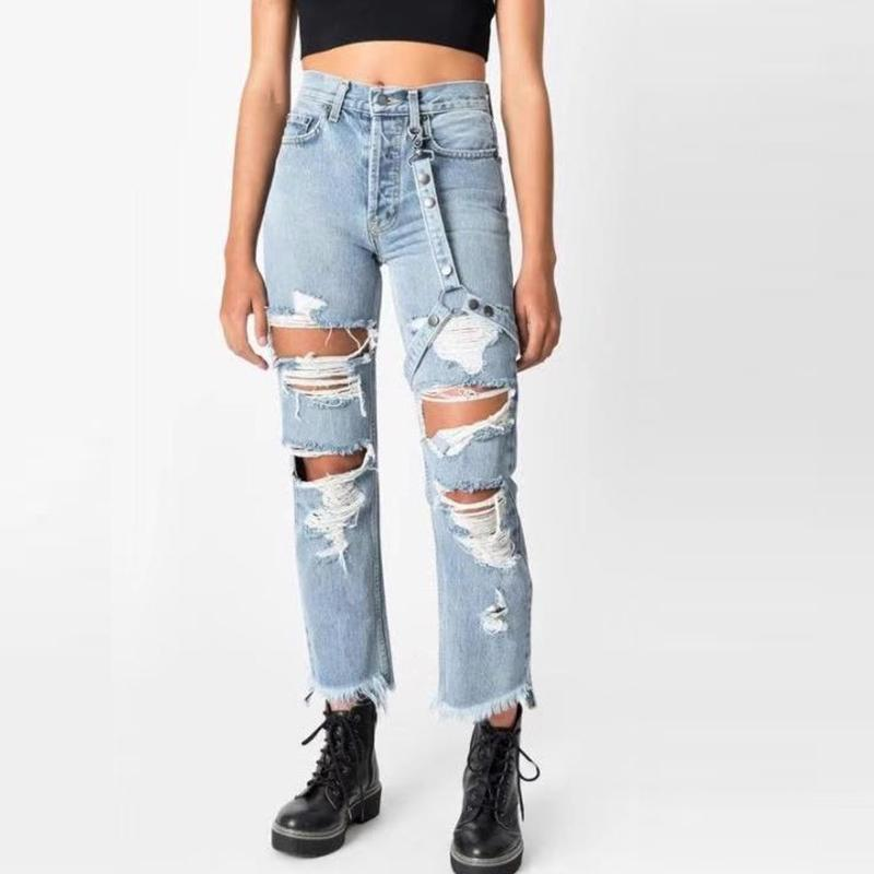2020 Loose Fit Womens Denim Pants Women Washed Jeans Women Stretch Mid Waist Straight Hole Ripped Hollow Out High Street Jeans Femme From Apparelone 35 84 Dhgate Com Find your perfect fit, rise, or leg style today. 2020 loose fit womens denim pants women