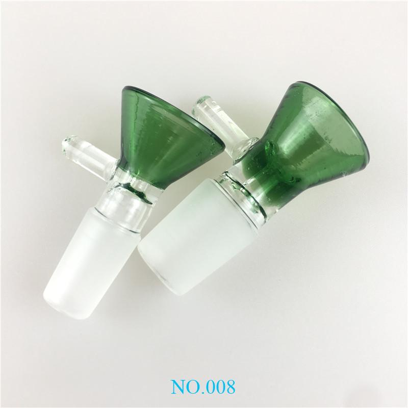 Popular Cute Funnel 14mm 18mm Glass Bowls for Bongs Male joint Smoking Glass Bowl Piece For Glass Bongs Oil Rigs Water Pipes hh