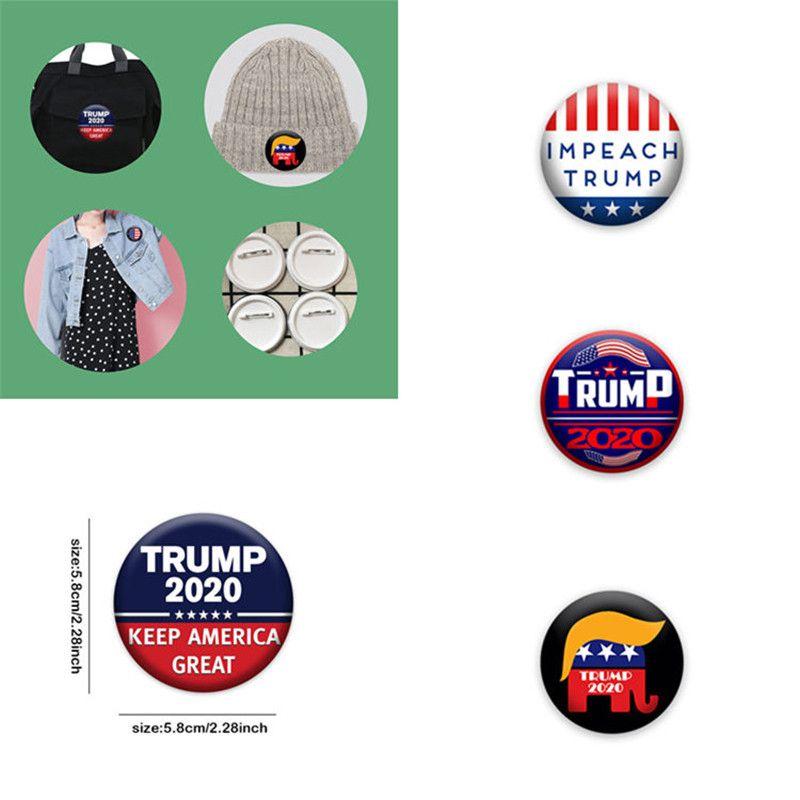 9 color 2020 Trump Placa América insignia insignia broche Elección Elección metal medalla conmemorativa de alta calidad de 100 piezas Suministros T1I2336
