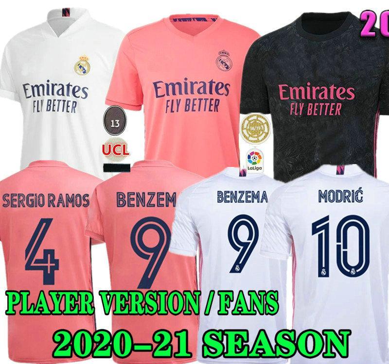 GEFAHR PLAYER VERSION FANS Real Madrid Fußball Jerseys 20 21 MILITAO camiseta 2020 2021 Männer weg dritte VINICIUS Fußballhemd Kinder