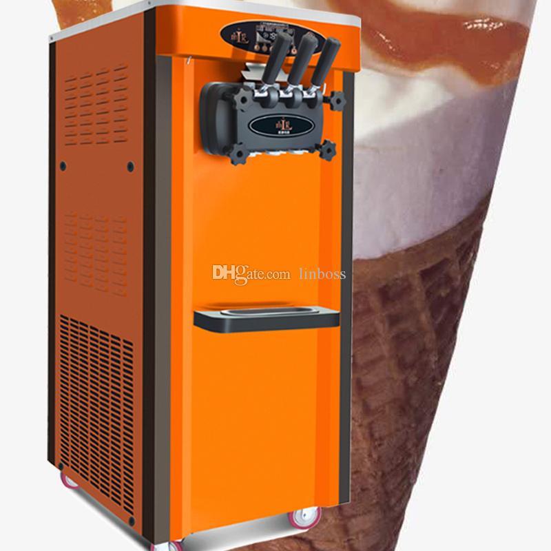 El ahorro de energía tres sabores máquinas de helado suave o máquina de yogurt / fábrica de suministro directo máquina de helados