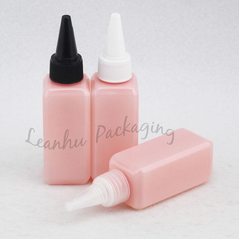 50 ml X 50pc Pembe Plastik Sivri Ağız Biberon, Boş Kozmetik Konteynerler, Güzellik Cilt Bakımı Mini Makyaj Konteynerleri
