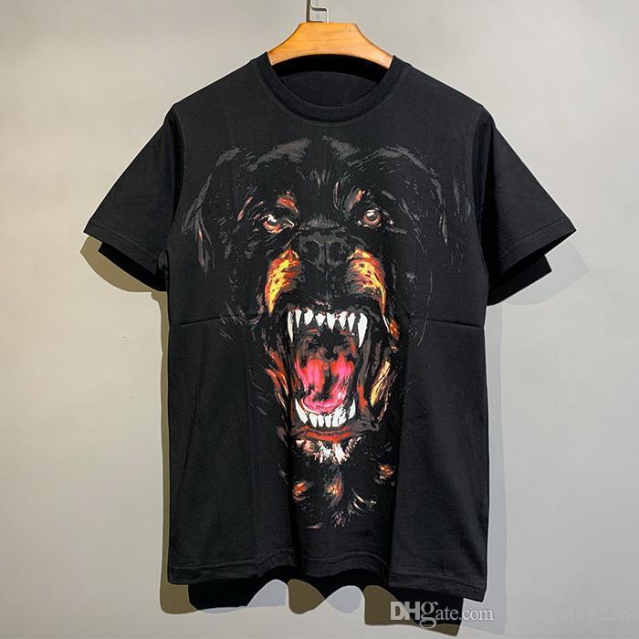 2020 Hommes d'été Femmes T-shirt en coton de haute qualité Classic Design Chien Head imprimé T-shirt à manches courtes à manches courtes