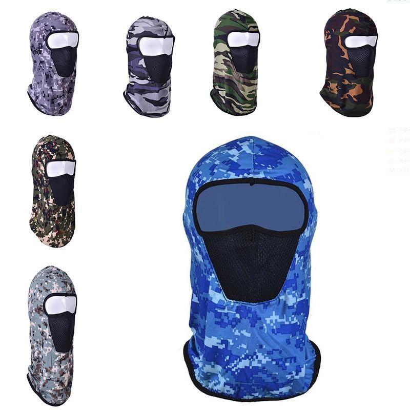 Велоспорт маска для лица Обложка Thin Открытый Headgear Caps Face Cover Шляпы Полное Песчано-доказательство Камуфляж Hat спортивных головных уборов Cap IIA448