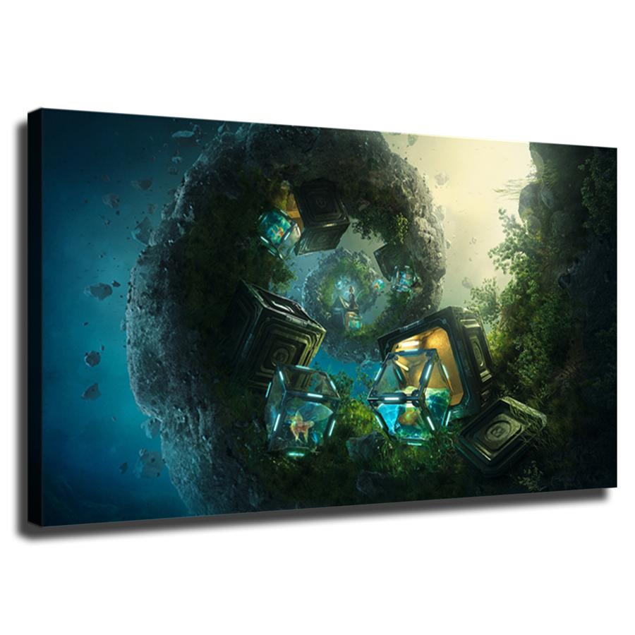 Fantasy Art 1-2, HD Tela stampa Home Decor Arte Pittura / (Unframed / Framed)