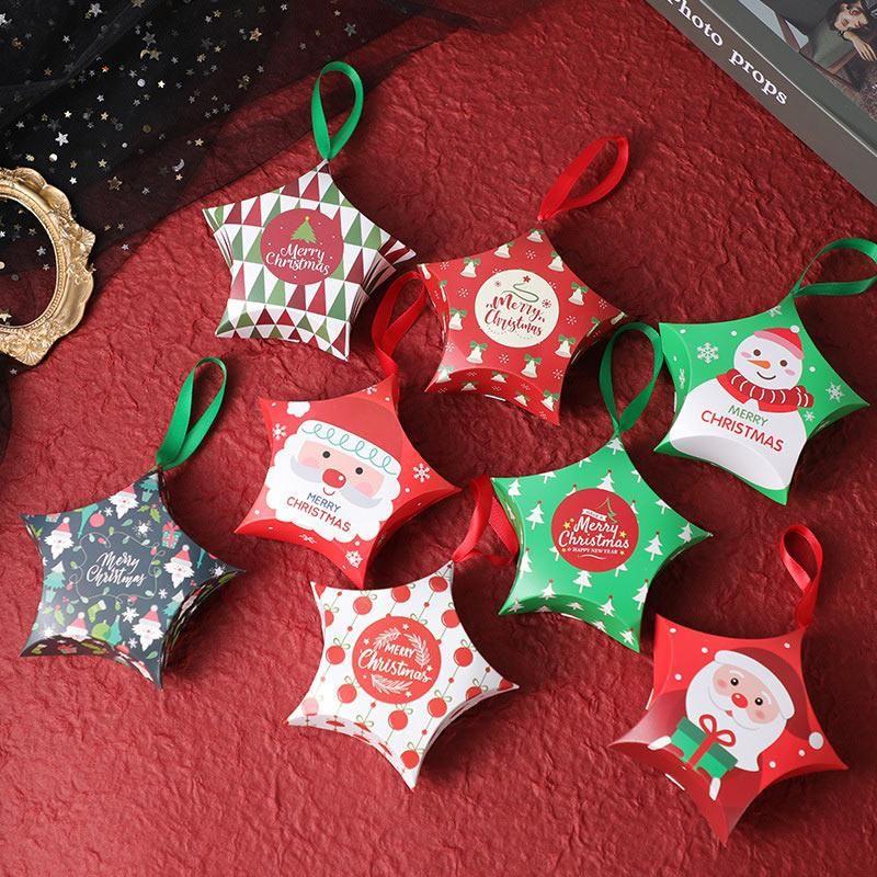 Noël papier boîte-cadeau Cartoon Père Noël Emballage cadeau Boîtes fête de Noël Kid Bonbonnière Supplies Décorations de Noël BWC2380