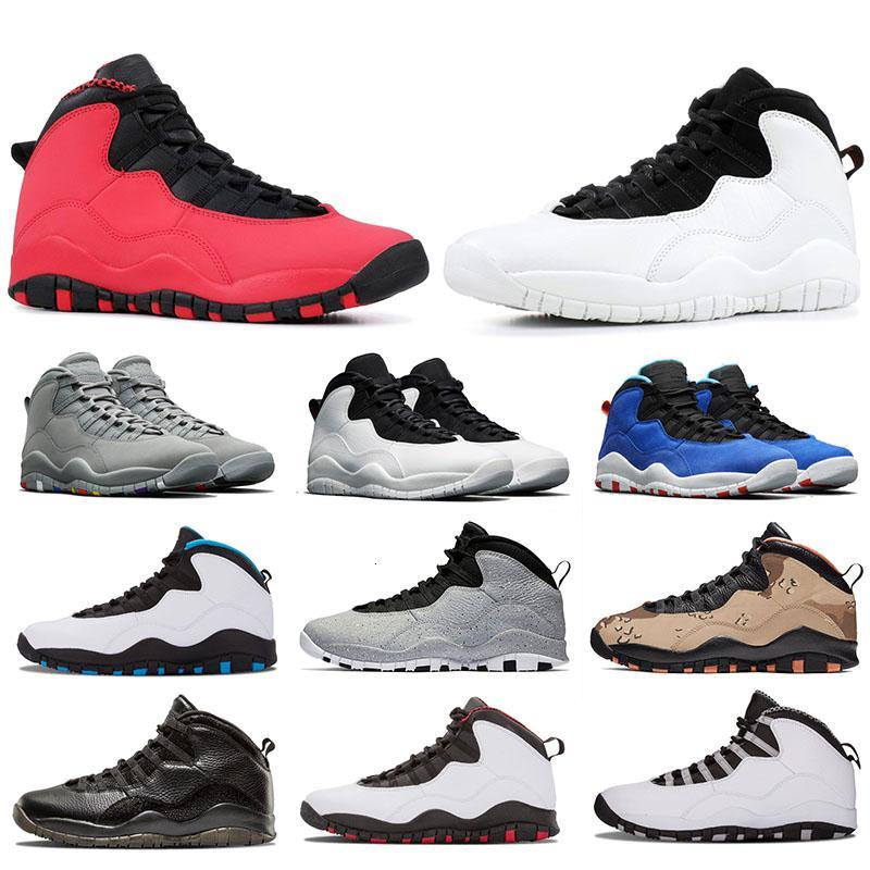 Tinker Desierto Camo JUMPMAN zapatos de baloncesto de cemento 10s 10 Westbrook GS rojo I m Volver Blanco Negro Hombres NakeskinJordánzapato Retros