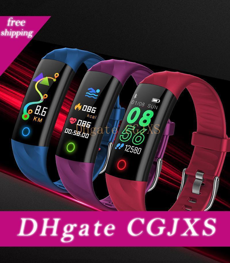 Sport intelligente Banda Wristband IP68 Schermo impermeabile di colore della pressione arteriosa frequenza cardiaca Contapassi fitness Attività Tracker Pk Fitbit