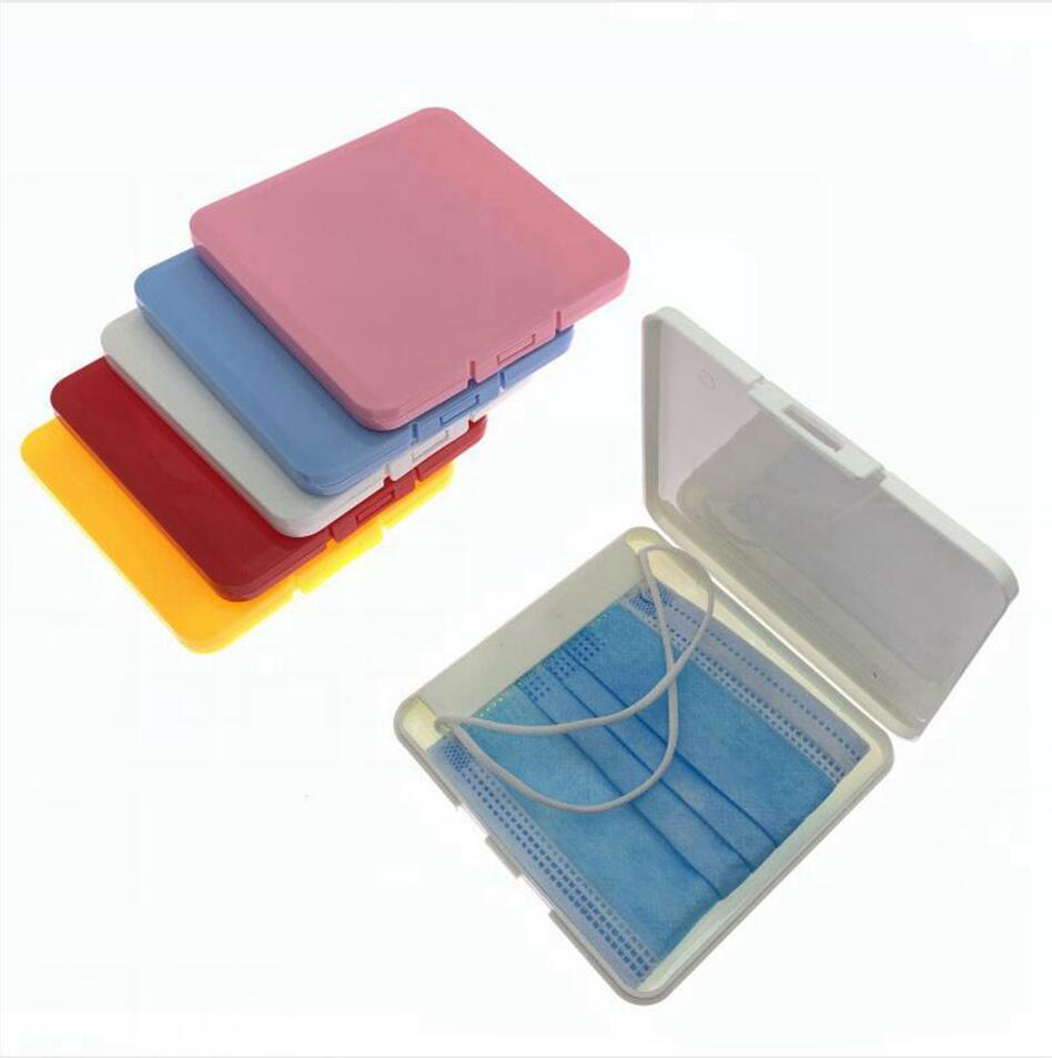 Maschera Portable Storage Box antipolvere Visiera umidità-prova Holder contenitore monouso Bocca di copertura della maschera di immagazzinaggio Caso LJJP324