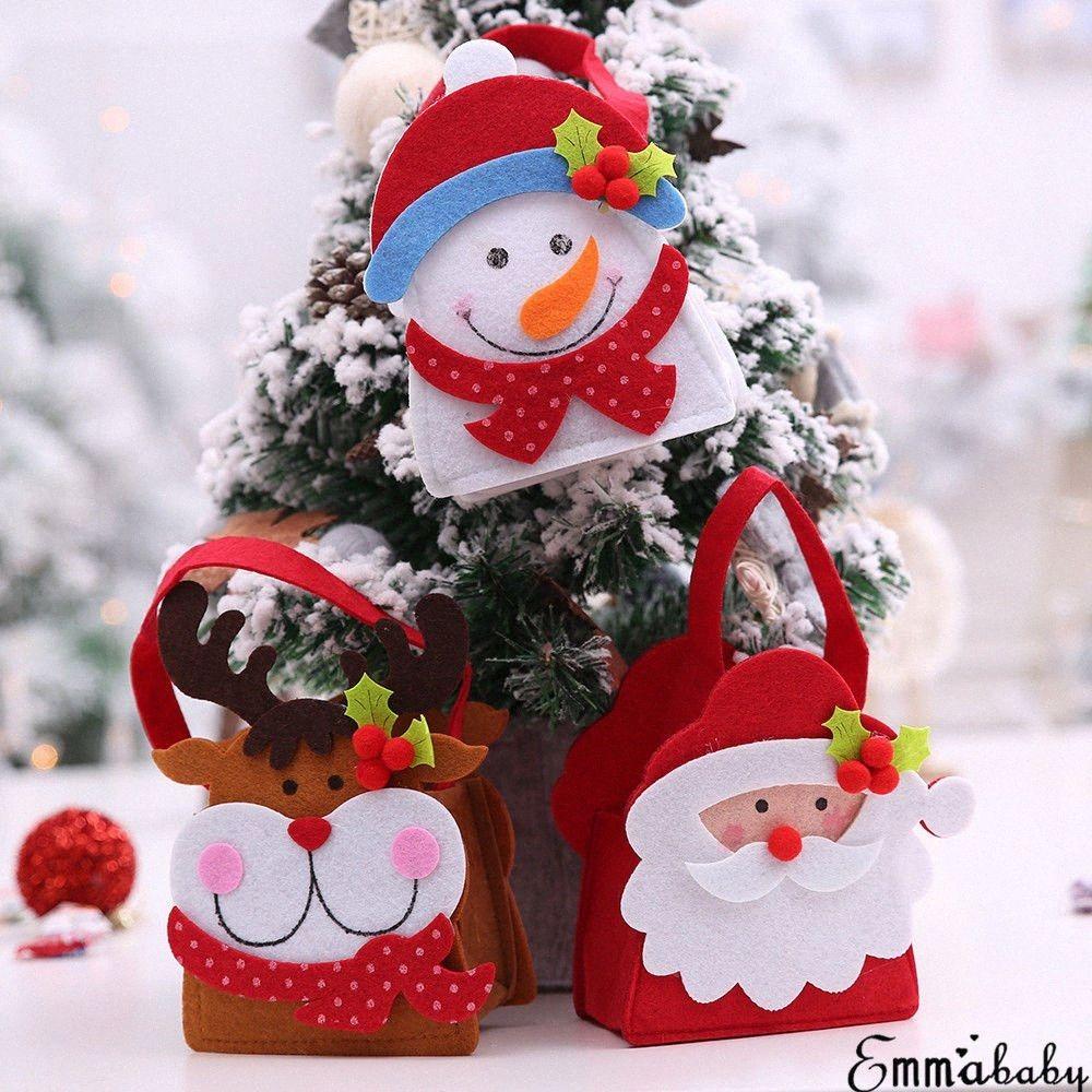 Presente de Natal Bolsas Saco dos doces de Papai Noel Boneco Elk clássico Design Árvore de Natal Hangings Crianças Xmas presente doces Sacos b7R8 #
