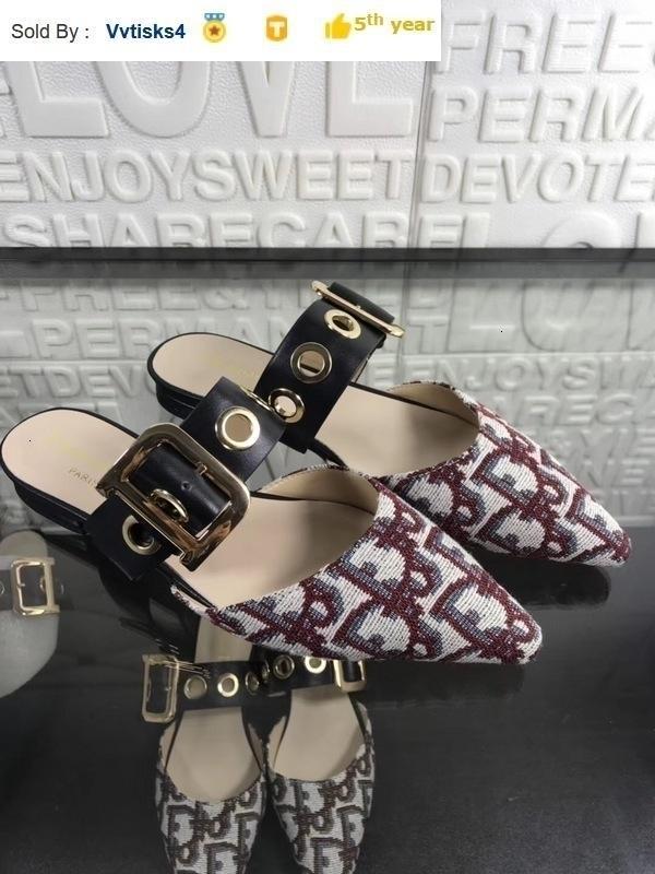 Hot Selling Ladies'Leisure Tip Flat-soled Sandals Slippers Casual Handmade Walking Tennis Sandals Slippers Mules Slides