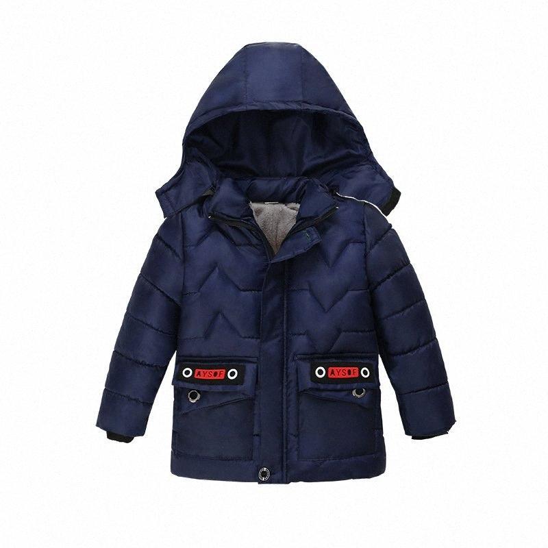 Erkekler Coat Yeni 2020 Sonbahar Ve Kış Çocuk Giyim Boys Pamuk Giyim Orta Ve Uzun Bölüm Çocuk Katı Renk Ceket bJfc #