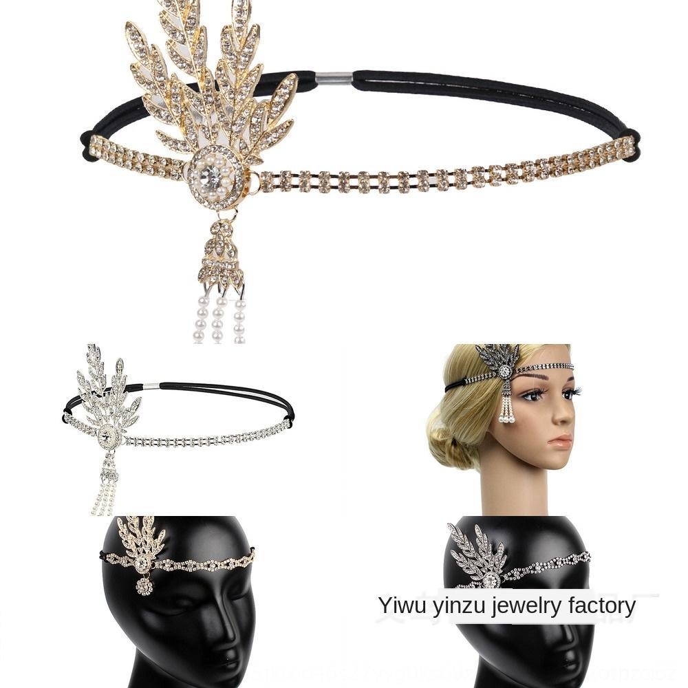bola anillo nupcial de aleación de cuerda de pelo de banda fiesta de Navidad anual perla perla del partido de sombreros de diamante diadema de pelo oAi8F Reunión