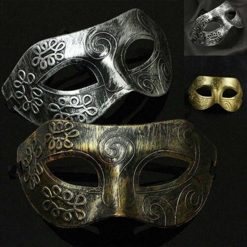 Womens Mans sexy degli occhi o del viso Oro Argento maschera mascherata del partito di promenade della sfera di costume 8kXe #