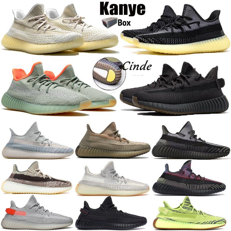 Kanye hommes ouest v2 femmes chaussures de course Abez statique noir réfléchissant Runner cendrée zyon désert sauge zèbre chaussures de sport béluga formateurs hommes