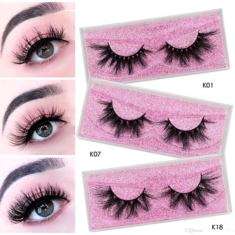 K01-K22 eyelash Vendors/100% cruelty free luxury mink lashes/15mm 20mm 25mm 3d 5d 6d Natural Dramatic Volume Eyelash Extensions/eyelash