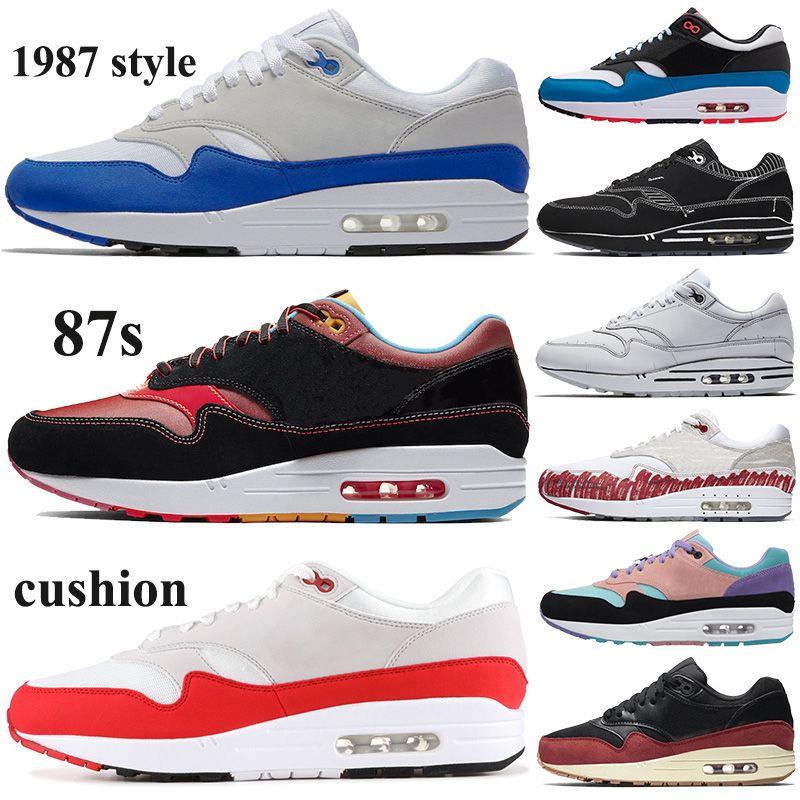 Hot 1987 chaussures de style en cours 87s coussin blanc rouge Formateurs anniversaire bricoler royal noir Chinatown de New York hommes femmes sport Chaussures de sport