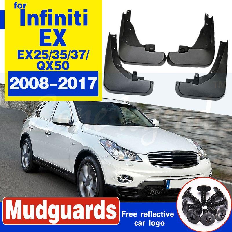 Car Bavette pour Infiniti EX EX25 EX35 EX37 QX50 2008 ~ 2017 Fender boue Garde Flap Splash Rabats 2010 2015 Accessoires Garde-boue 2016