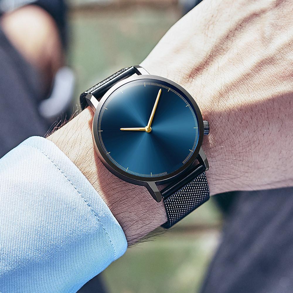 Мужские деловой человек Часы 2020 Мода Classic Gold Quartz из нержавеющей стали наручные часы Мужские часы
